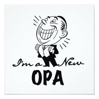 Smiling New Opa T-shirts and Gifts 5.25x5.25 Square Paper Invitation Card