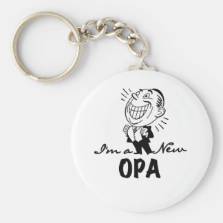 Smiling New Opa T-shirts and Gifts Keychain