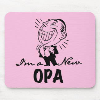 Smiling New Opa T-shirts and Gifts Mouse Pad