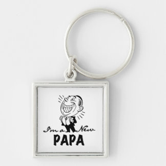 Smiling New Papa T-shirts and Gifts Keychains