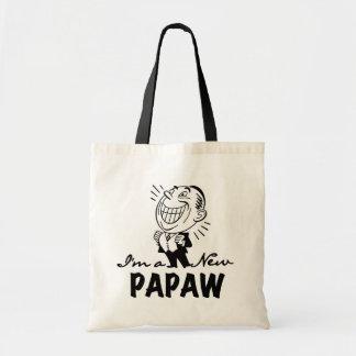 Smiling New Papaw Tshirts and Gifts Budget Tote Bag
