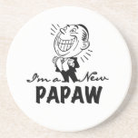 Smiling New Papaw Tshirts and Gifts Coasters