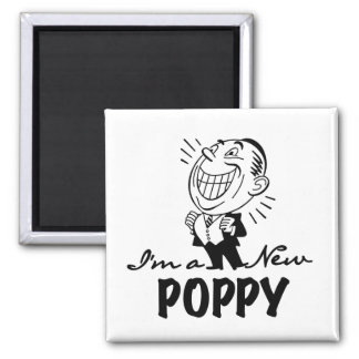 Smiling New Poppy T-shirts and Gifts 2 Inch Square Magnet
