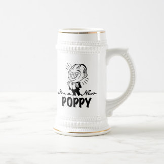Smiling New Poppy T-shirts and Gifts Beer Stein