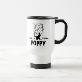 Smiling New Poppy T-shirts and Gifts 15 Oz Stainless Steel Travel Mug