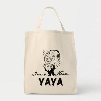Smiling New Yaya Tshirts and Gifts Grocery Tote Bag