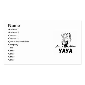 Smiling New Yaya Tshirts and Gifts Business Card Templates