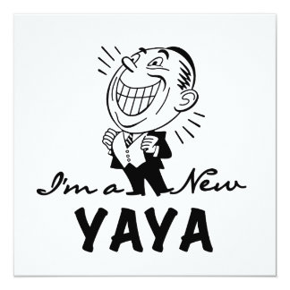 Smiling New Yaya Tshirts and Gifts 5.25x5.25 Square Paper Invitation Card