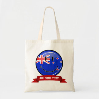 Smiling New Zealand Flag Tote Bag