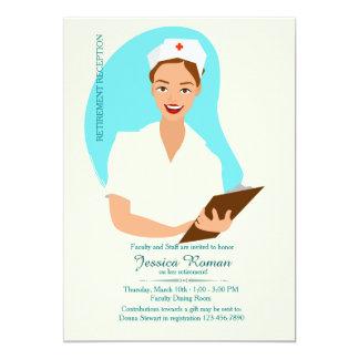 Smiling Nurse Retirement Invitation