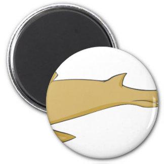 Smiling Nurse Shark 2 Inch Round Magnet