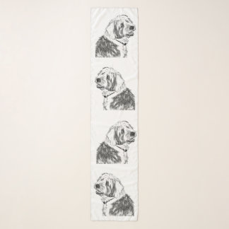 Smiling Old English Sheep Dogs Scarf