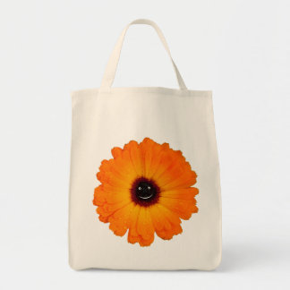 Smiling Orange Flower Tote Bag