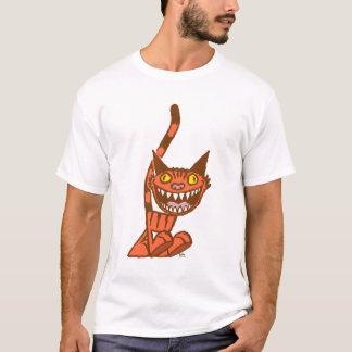 Smiling Orange Kitty cartoon T-shirt