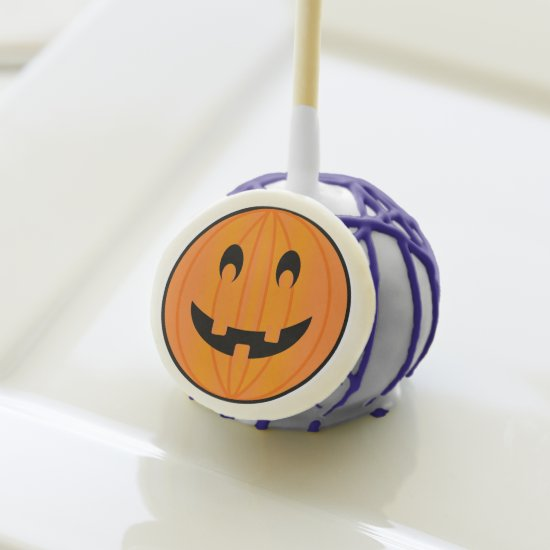 Smiling Orange Pumpkin, Halloween cake pop