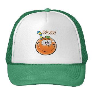 Smiling Orange Trucker Hat