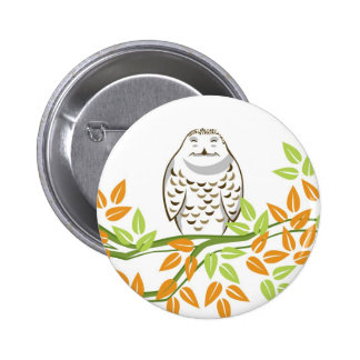 Smiling Owl 2 Inch Round Button