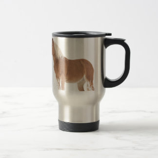 Smiling Palomino Horse in the Snow Travel Mug