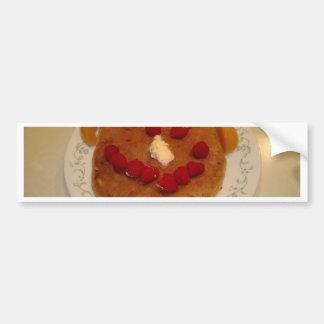 Smiling pancake bumper sticker