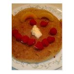 Smiling pancake post cards