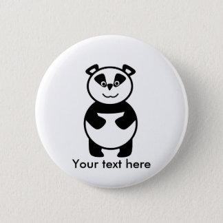 Smiling panda bear pinback button