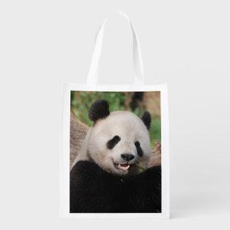 Smiling Panda Bear Market Totes