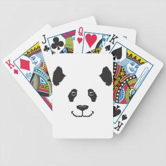 Smiling Panda Bicycle Playing Cards