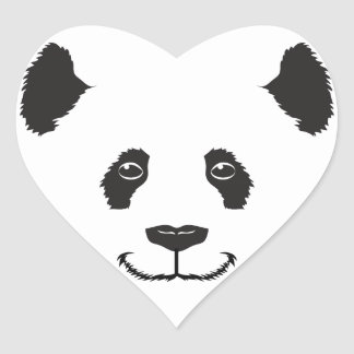 Smiling Panda Heart Sticker