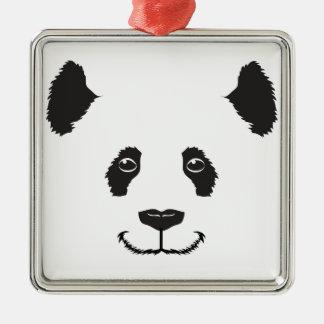 Smiling Panda Metal Ornament