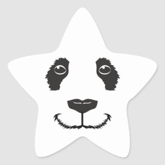 Smiling Panda Star Sticker