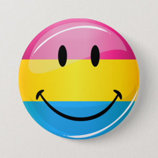 Smiling Pansexual Pride Flag Button