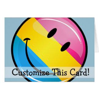 Smiling Pansexual Pride Flag Card