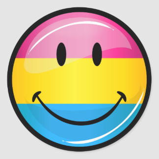 Smiling Pansexual Pride Flag Classic Round Sticker