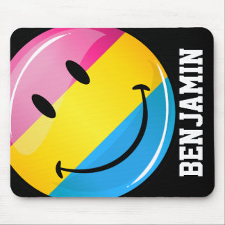 Smiling Pansexual Pride Flag Mouse Pad