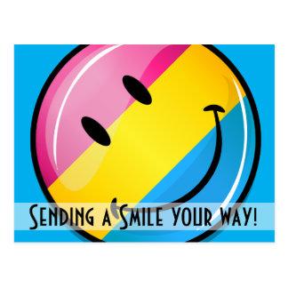 Smiling Pansexual Pride Flag Postcard