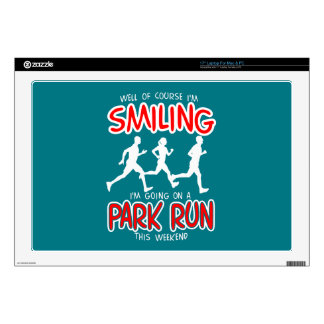 Smiling Park Run (wht) Laptop Skin