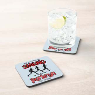 Smiling parkrun this weekend (blk) coaster