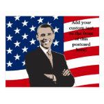 Smiling Patriotic Barack Obama Pop Art Postcard