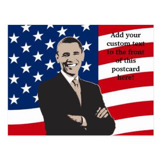Smiling Patriotic Barack Obama Pop Art Postcards