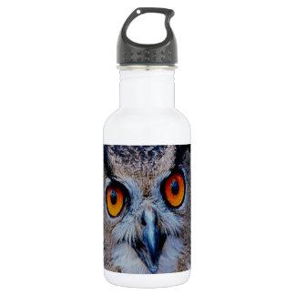 smiling peacelful  owl Eagle 18oz Water Bottle