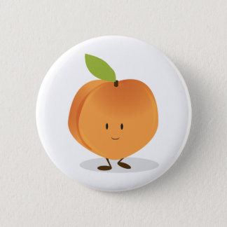 Smiling Peach Button
