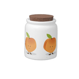 Smiling Peach Candy Dish