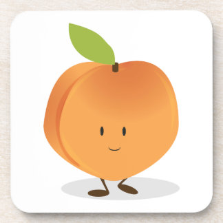 Smiling Peach Drink Coaster