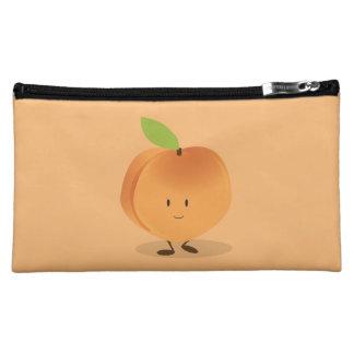Smiling Peach Cosmetic Bag