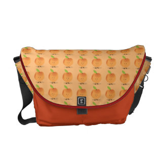 Smiling Peach Messenger Bag