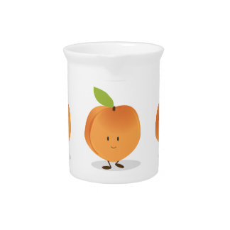 Smiling Peach Drink Pitcher