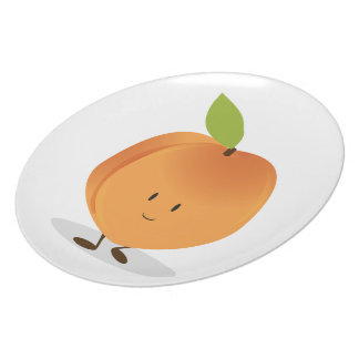 Smiling Peach Party Plate