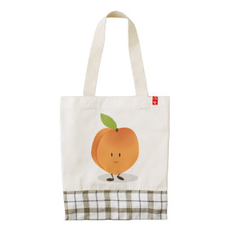 Smiling Peach Zazzle HEART Tote Bag