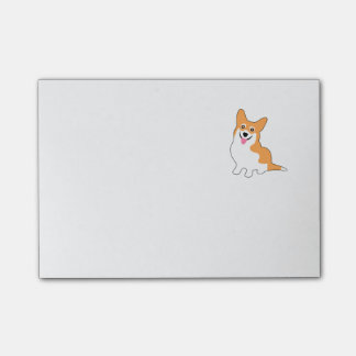 Smiling Pembroke Welsh Corgi Cartoon Post-it® Notes