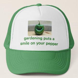 smiling pepper trucker hat